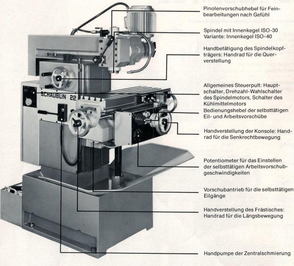 Schaublin 22 Hochpräzisions-Fräsmaschine